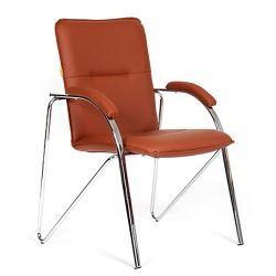 Кресло для посетителя CHAIRMAN 850 коричневое