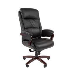Кресло для руководителя CHAIRMAN 404, черная кожа