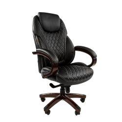 Кресло руководителя Chairman 406 черное, экопремиум