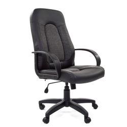 Кресло руководителя CHAIRMAN 429 экокожа, ткань, черное