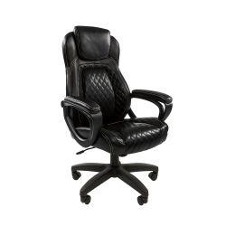 Кресло руководителя Chairman 432 черное, экокожа