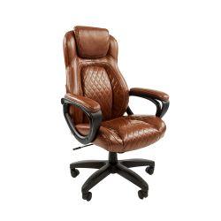 Кресло руководителя Chairman 432 коричневое, экокожа