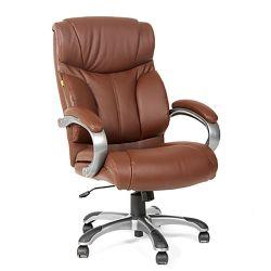 Кресло для руководителя CHAIRMAN CH 435 коричневое