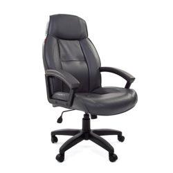 Кресло для руководителя CHAIRMAN 436 LT кожа серая