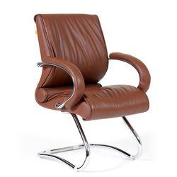 Кресло для посетителя CHAIRMAN 445 коричневое