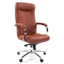Кресло для руководителя CHAIRMAN 480 коричневое