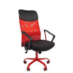 Кресло для руководителя CHAIRMAN 610 Cmet, красное