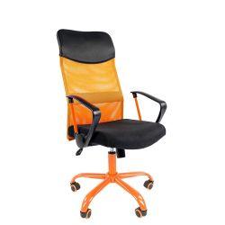 Кресло для руководителя CHAIRMAN 610 Cmet, оранжевое