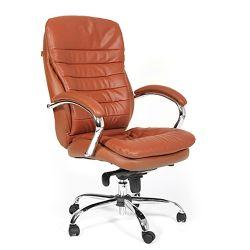 Кресло руководителя CHAIRMAN 795, натуральная кожа, коричневое