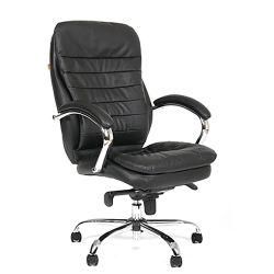 Кресло руководителя CHAIRMAN 795, кожа, черное