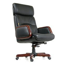 Кресло для руководителя CHAIRMAN CH 417, черная кожа