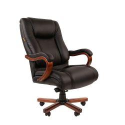 Кресло для руководителя CHAIRMAN CH 503. черная кожа