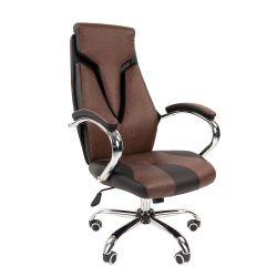 Кресло руководителя CHAIRMAN 901 черно/коричневое