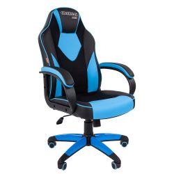 Кресло CHAIRMAN Game 17 черно/голубое