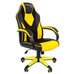 Кресло CHAIRMAN Game 17 черно/желтое