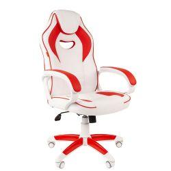 Кресло CHAIRMAN Game 16 white красное