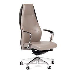 Кресло кожаное CHAIRMAN Basic серое