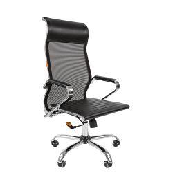 Кресло для руководителя CHAIRMAN 701 черное, сетка