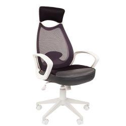 Кресло для руководителя CHAIRMAN CH 840 white серое