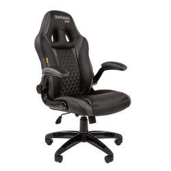 Кресло CHAIRMAN Game 15 черно/серое