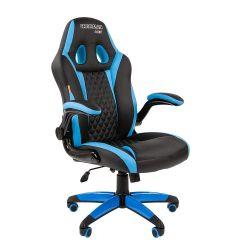 Кресло CHAIRMAN Game 15 черно/голубое