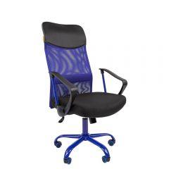 Кресло для руководителя CHAIRMAN 610 Cmet, синее