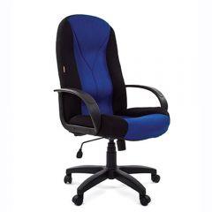 Кресло руководителя CHAIRMAN 785 черно-синее