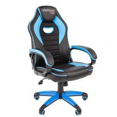 Кресло CHAIRMAN Game 16 черно/голубое